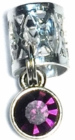 Purple Hair Crystal Silver Small