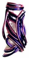Purple Passion Wire Hair Jewelry