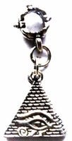 Pyramid Eye Egyptian Hair Charm