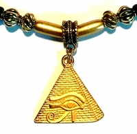 Pyramid Eye of Heru Gold Ponytail