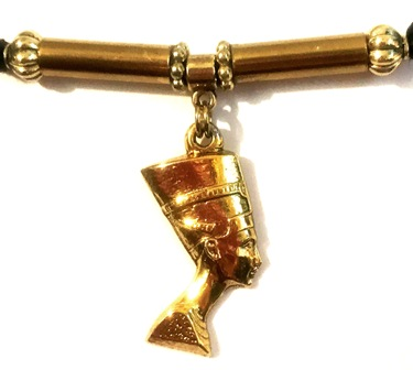 Queen Nefertiti Golden Ponytail Holder