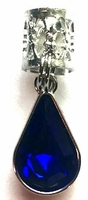 Royal Blue Teardrop Crystal Hair Jewel