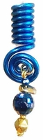 Royal Blue Wire Coil Hair Charm Ball