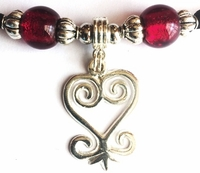 Sankofa Small Silver Ruby