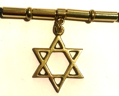 Star Of David Gold Men's Dreadlock Holder