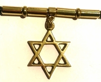 Star of David Large Gold Men's Dreadlock Holder