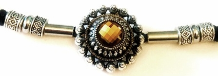 Topaz Crystal Jewel Ponytail Holder