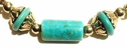 Turquoise Magnesite Silver Bars