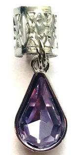 Violet Crystal Facet Teardrop Hair Jewel