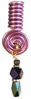 Violet Purple Wire Coil Hair Loc Charm