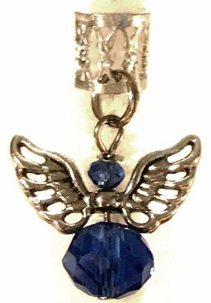 Winged Angel Blue Sapphire Crystal