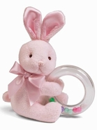 Bearington Baby Cottontail Bunny Shaker Rattle