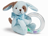 Bearington Baby Waggles Blue Puppy Dog Shaker Rattle