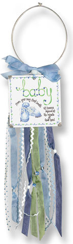 Baby Boy Doorknob Blessing Card Holder
