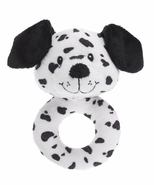 Baby Ganz Dalmation Dog Plush Ring Rattle