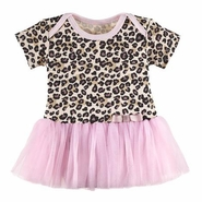 Baby Ganz Li'l Leopard Diaper Shirt Dress with Tutu - 0-6 Months