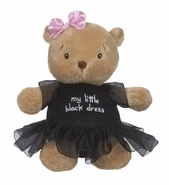 Baby Ganz Little Black Dress Plush Bear 9""