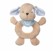 Baby Ganz My First Puppy Plush Hand Rattle - Blue 6""