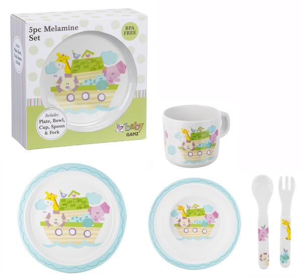 Baby Ganz Noahu0027s Ark Melamine Plate Set (5 pc. Set)  sc 1 st  Hearts Desire Gifts : baby plate set - Pezcame.Com