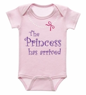 Baby Ganz Diaper Shirt - The Princess has arrived 0-6 Months
