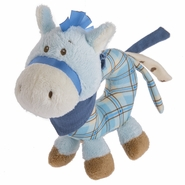 Baby Ganz Wee Western Horse Ring Rattle - Blue