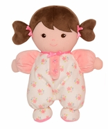 "Baby Starters 9"" Plush Doll with Rattle - Olivia Brunette"