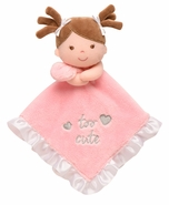 "Baby Starters Snuggle Buddy ""too cute"" Doll w/Pigtails Blanket"
