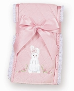 Bearington Baby Cottontail Bunny Burp Cloth