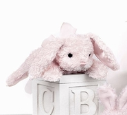 Bearington Baby Cottontail Plush Bunny Rattle