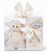 Bearington Baby Lamby Blankie and Lambykin Gift Set