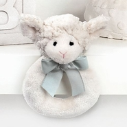 Bearington Baby Lil' Lamby Ring Rattle