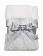 Bearington Baby Silky Soft Security Blanket - Steel Gray