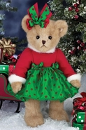 Bearington Bears Hannah Holiday Bear 14""