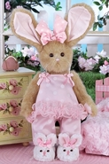 Bearington Collection Winnie Whiskertoes Bunny 14""