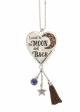Ganz Car Charms - Loved to the Moon and Back