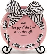 Inspirational Ribbon Plate - The Joy of the Lord