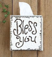 Creative Co-Op Bless You Tissue Box Cover