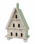 Creative Co-Op Decorative Distressed Wood Birdhouse
