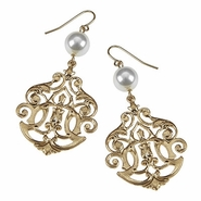 Earrings - Filigree Style with Pearl Accent