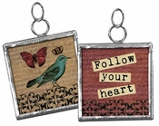 Primitives by Kathy Pendant Charm - Follow Your Heart