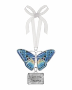 Ganz Blissful Journey Butterfly Ornament - Follow your Dreams