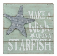 "Ganz Box Plaque - ""Make a Wish Upon a Starfish"" Costal Sign"