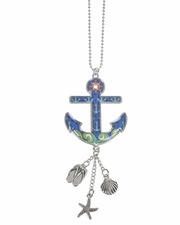 Ganz Car Charms - Anchor with Color