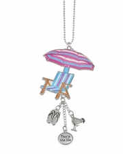 Ganz Car Charms - Beach Chair with Umbrella