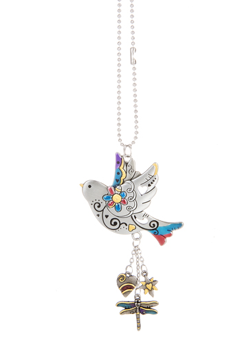 Ganz Car Charms Bird With Color Hearts Desire Gifts