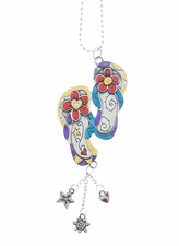 Ganz Car Charms - Color Art Flip Flops