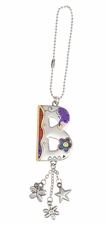 Ganz Car Charms Color Art Monogram Letter - B