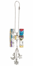 Ganz Car Charms Color Art Monogram Letter - H