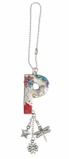 Ganz Car Charms Color Art Monogram Letter - P