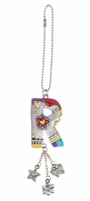 Ganz Car Charms Color Art Monogram Letter - R